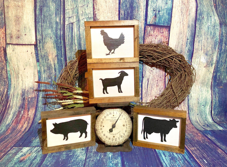 Best ideas about Farm Animal Kitchen Decor . Save or Pin Farm animal silhouettes Kitchen decor Rustic Farmhouse Now.