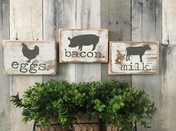 Best ideas about Farm Animal Kitchen Decor . Save or Pin farmhouse kitchen decor Farmhouse animals Cow pig chicken Now.
