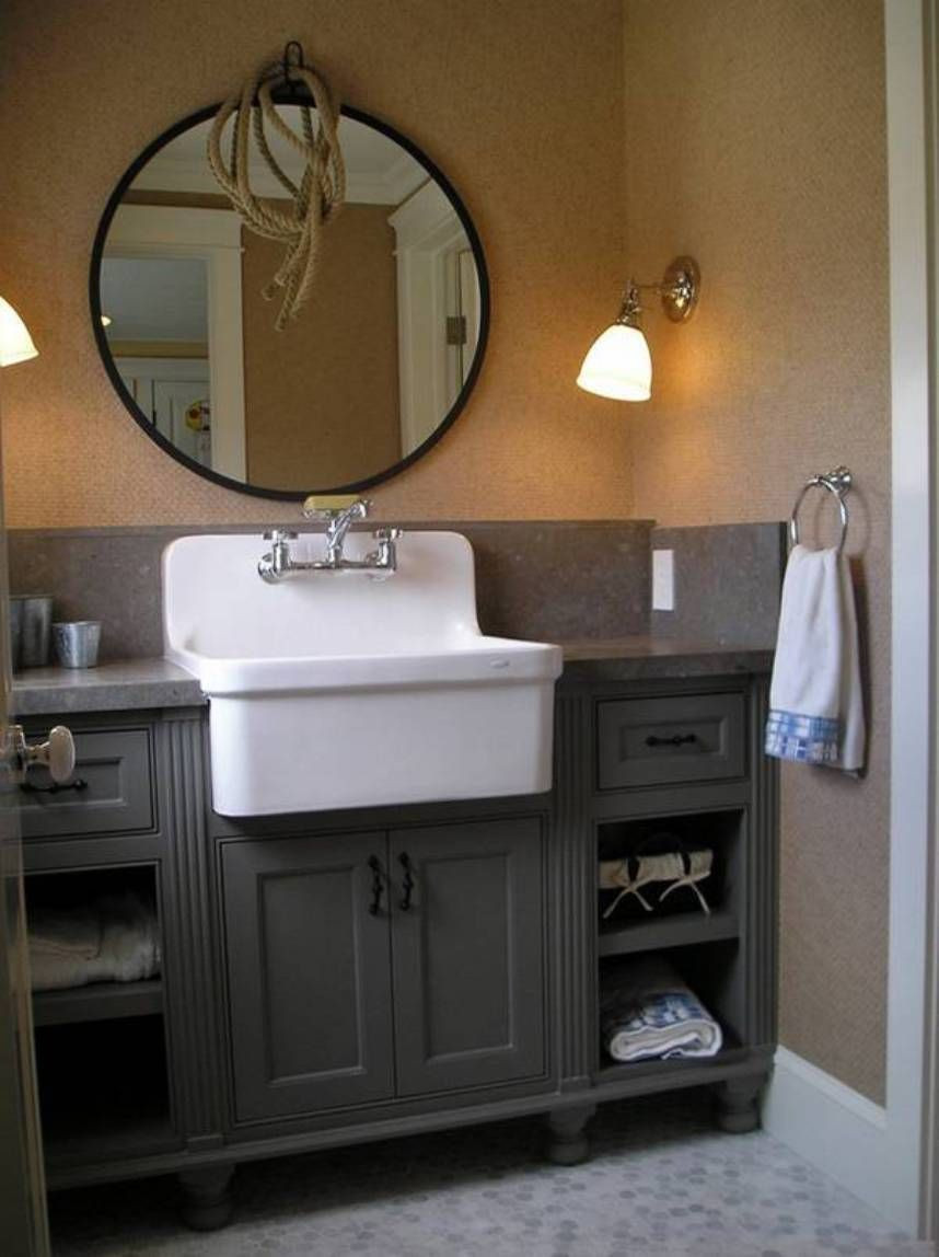 Best ideas about Farmhouse Bathroom Sink . Save or Pin Furniture Classic Antique Bathroom Vanity Antique Now.
