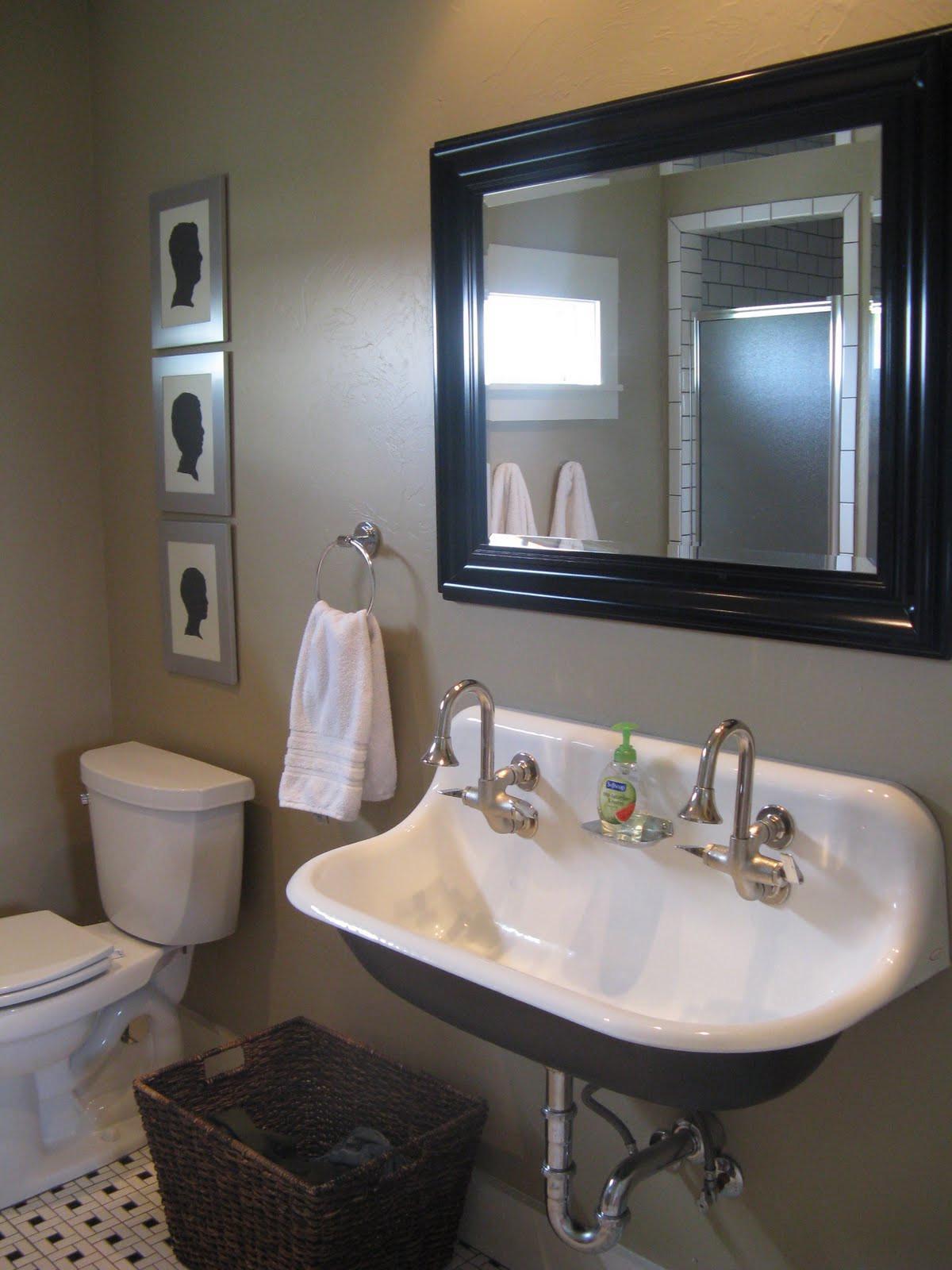 Best ideas about Farmhouse Bathroom Sink . Save or Pin Boy s bath Now.