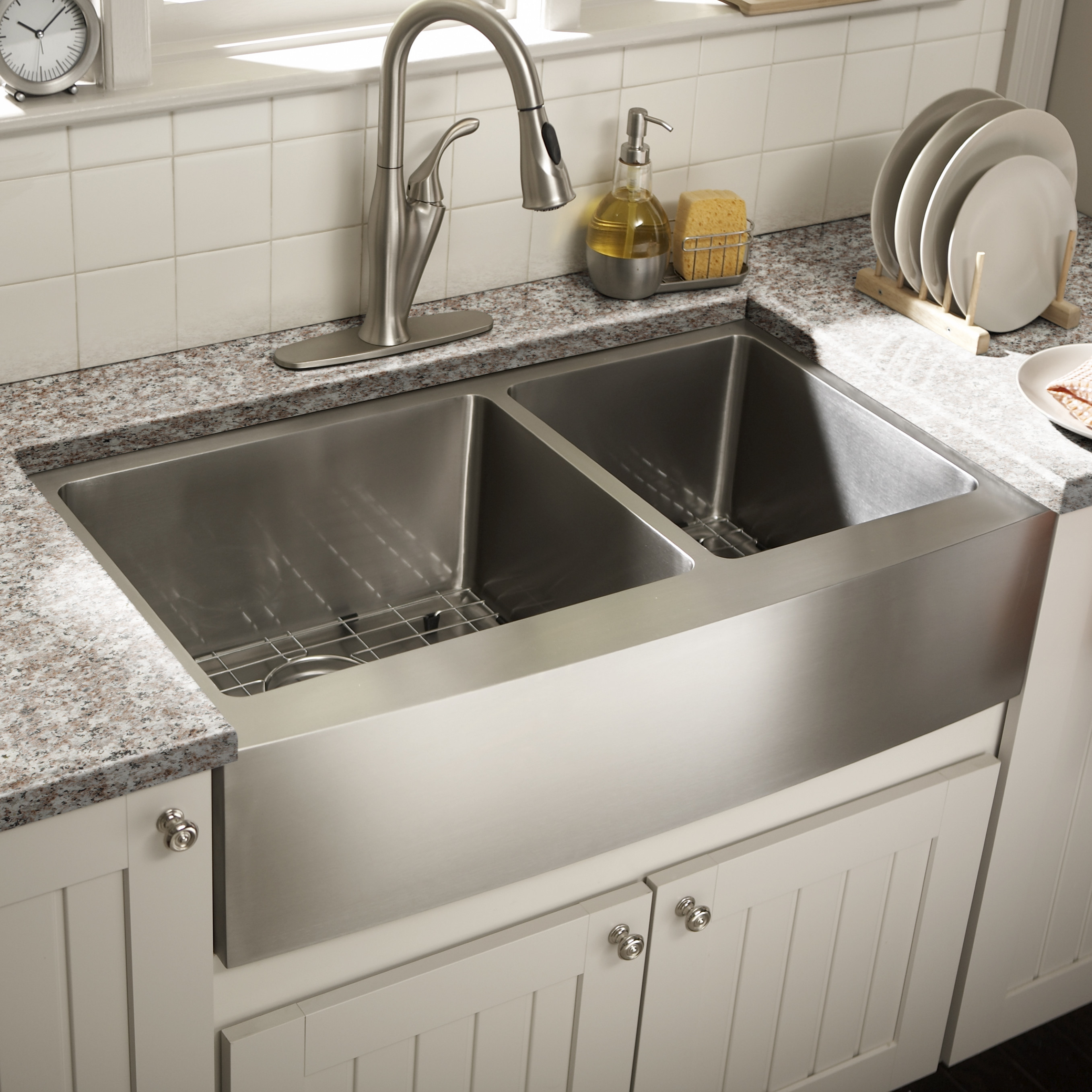 "Best ideas about Farmhouse Bathroom Sink . Save or Pin Schon Farmhouse 36"" x 21 25"" Undermount Double Bowl Now."