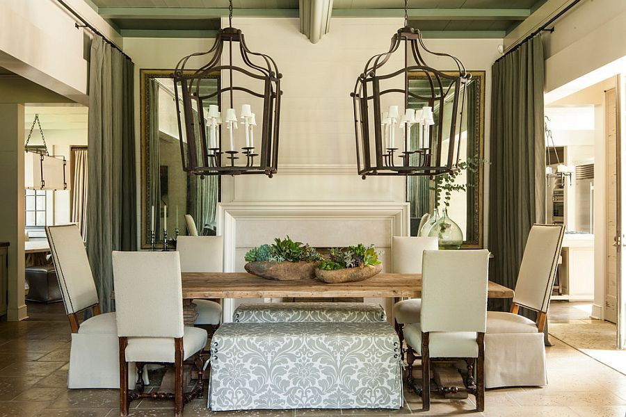 Best ideas about Farmhouse Dining Room Lighting . Save or Pin 30 Unassumingly Chic Farmhouse Style Dining Room Ideas Now.