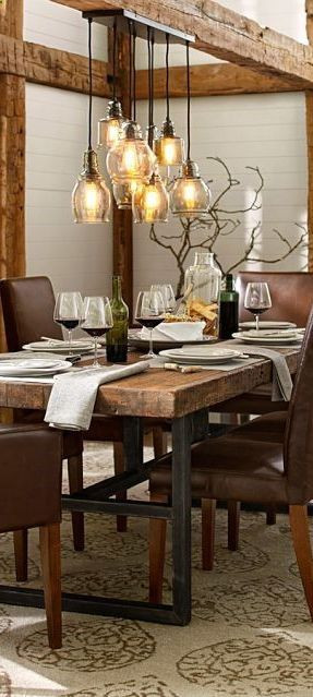 Best ideas about Farmhouse Dining Room Lighting . Save or Pin Best 20 Rustic Dining Rooms ideas on Pinterest Now.