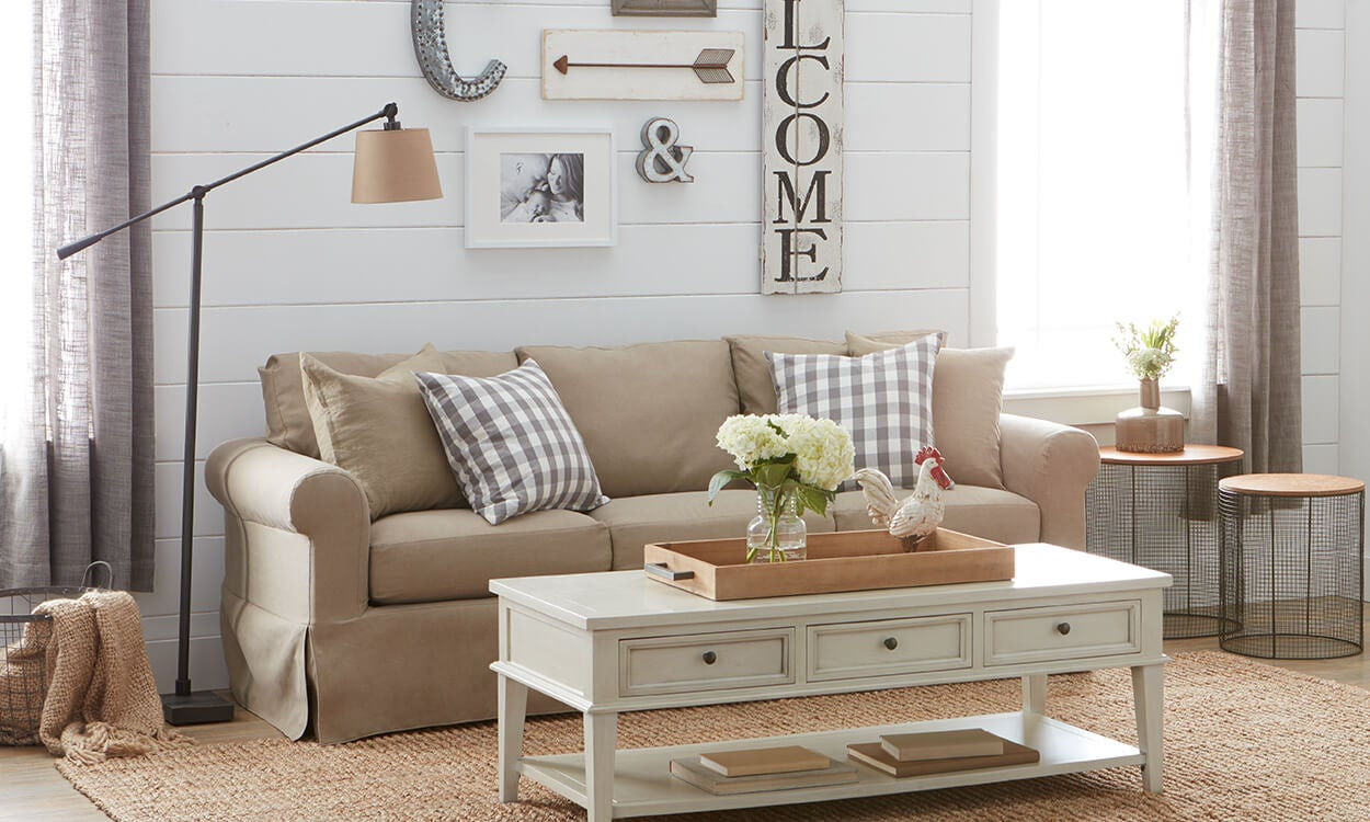 Best ideas about Farmhouse Living Room Ideas . Save or Pin Charming Farmhouse Decorating Ideas Overstock Now.