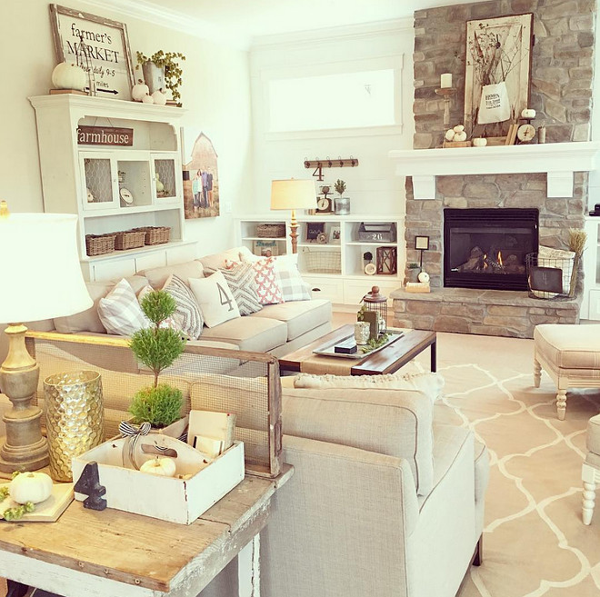 Best ideas about Farmhouse Living Room Ideas . Save or Pin 2016 Farmhouse Fall Decorating Ideas Home Bunch Interior Now.