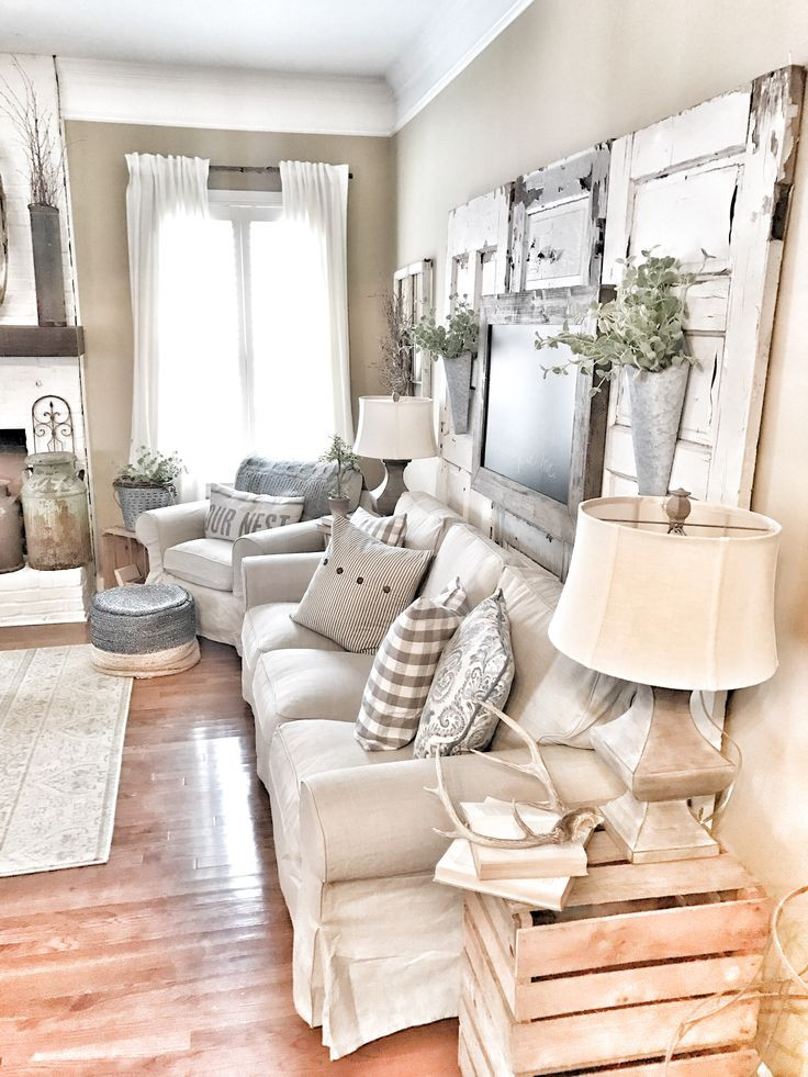 Best ideas about Farmhouse Living Room Ideas . Save or Pin 27 Rustic Farmhouse Living Room Decor Ideas for Your Home Now.