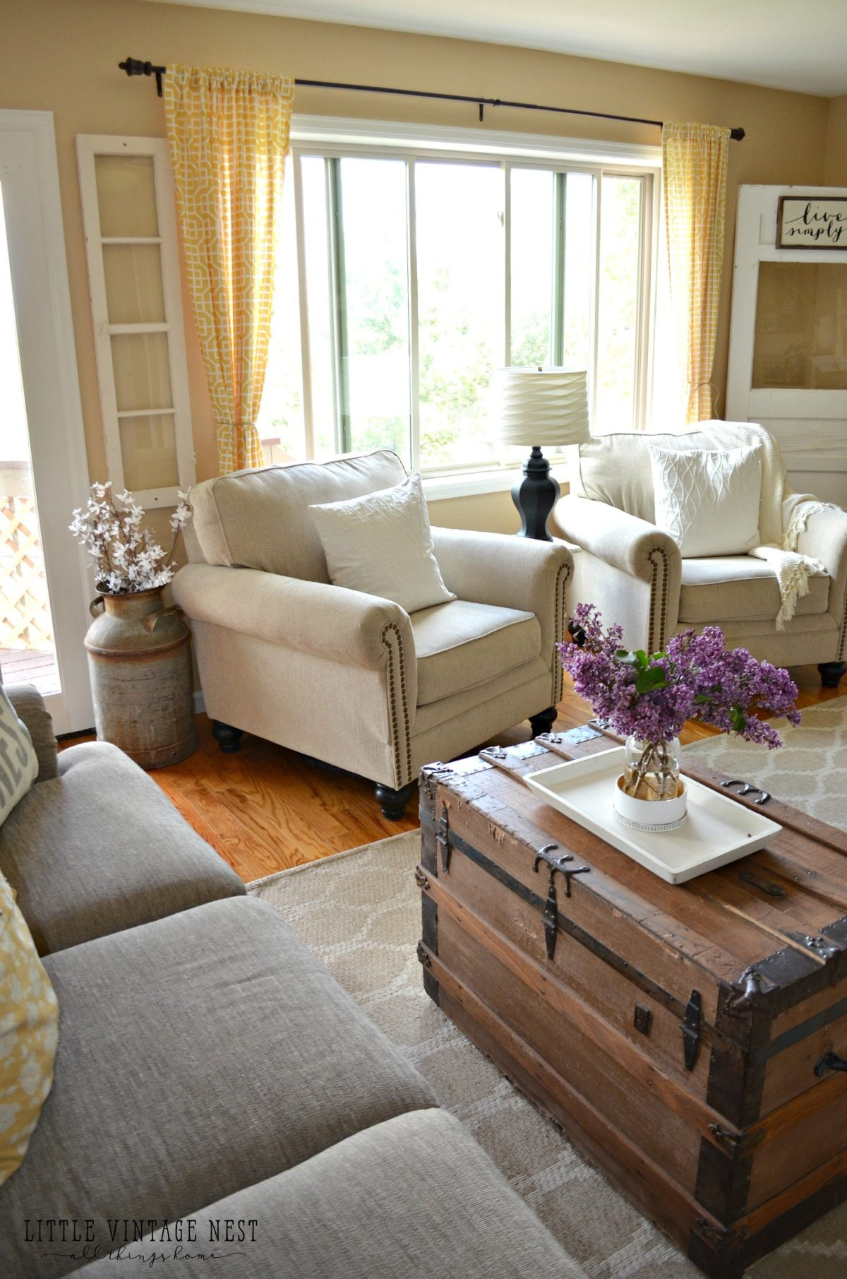 Best ideas about Farmhouse Style Living Room Furniture . Save or Pin How I Transitioned to Farmhouse Style Little Vintage Nest Now.