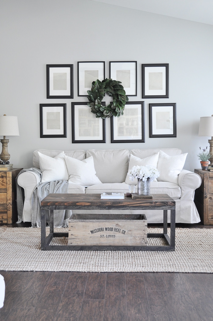 Best ideas about Farmhouse Style Living Room Furniture . Save or Pin New Living Room Furniture Little Glass Jar Now.