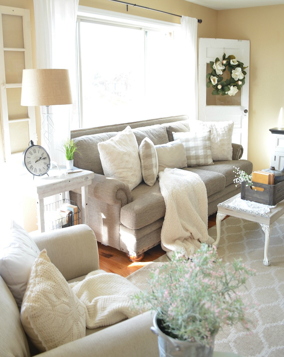 Best ideas about Farmhouse Style Living Room Furniture . Save or Pin Refreshed Modern Farmhouse Living Room Little Vintage Nest Now.