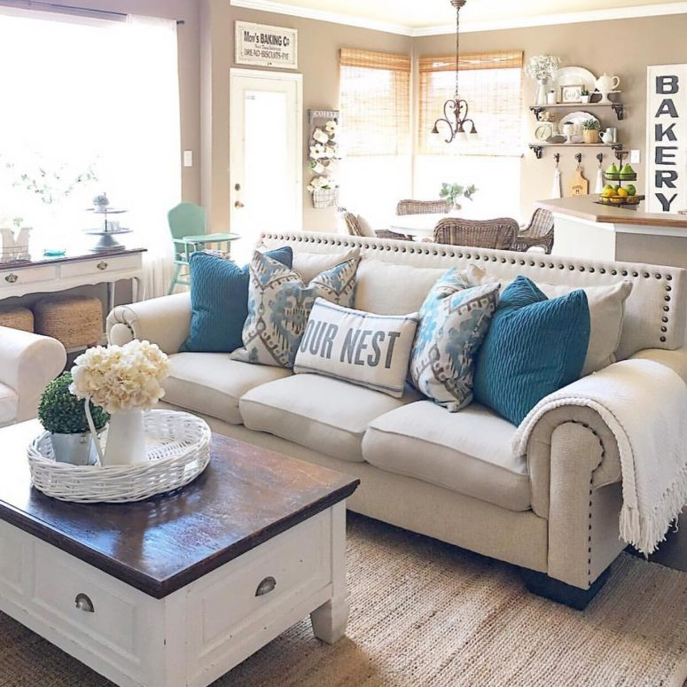 Best ideas about Farmhouse Style Living Room Furniture . Save or Pin 45 fy Farmhouse Living Room Designs To Steal DigsDigs Now.