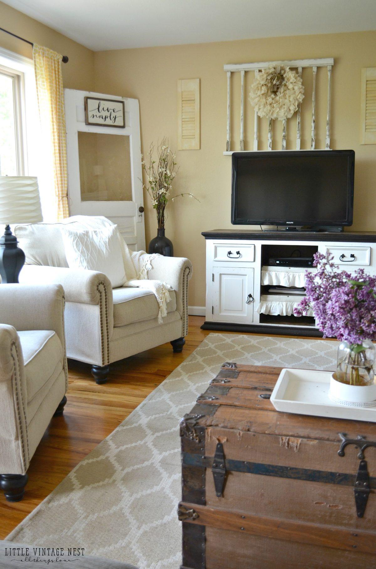 Best ideas about Farmhouse Style Living Room Furniture . Save or Pin Farmhouse Living Room Summer Refresh Little Vintage Nest Now.