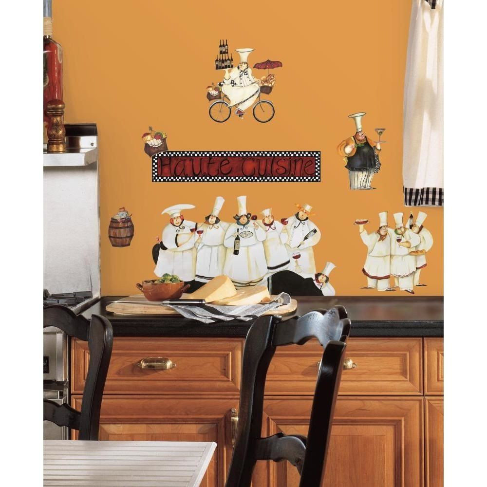 Best ideas about Fat Chef Kitchen Decor At Walmart . Save or Pin New Italian Fat CHEFS Peel & Stick Wall Decals Kitchen Now.
