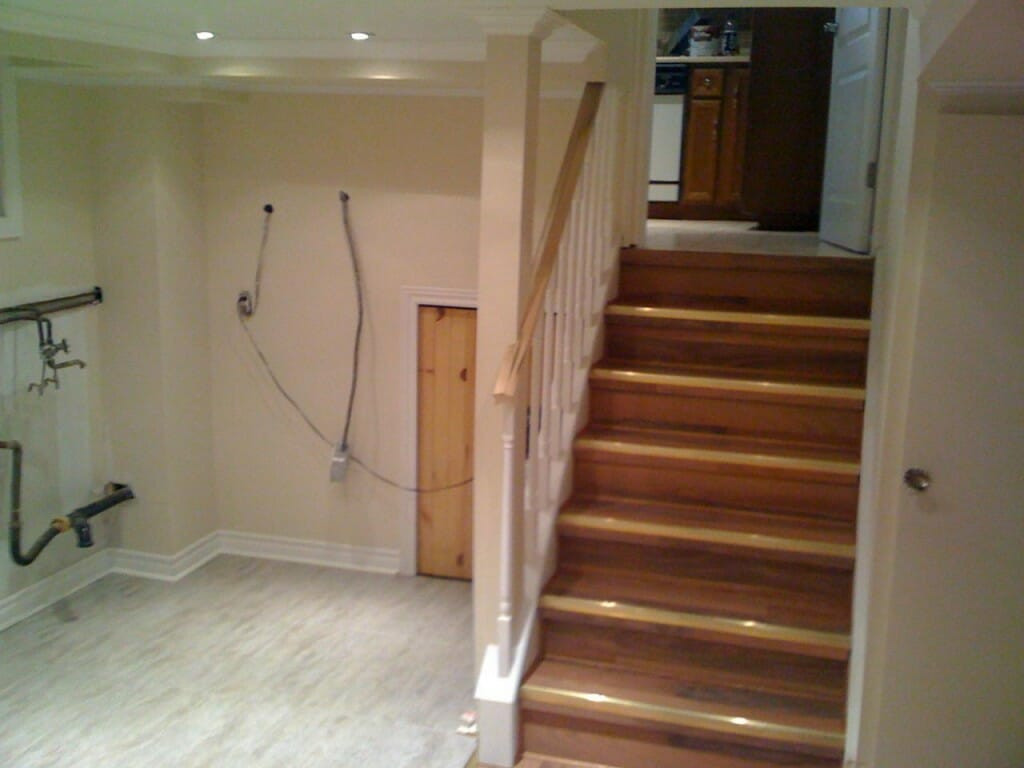 Best ideas about Finished Basement Stairs . Save or Pin Finishing Basement Stairs Modernize Now.