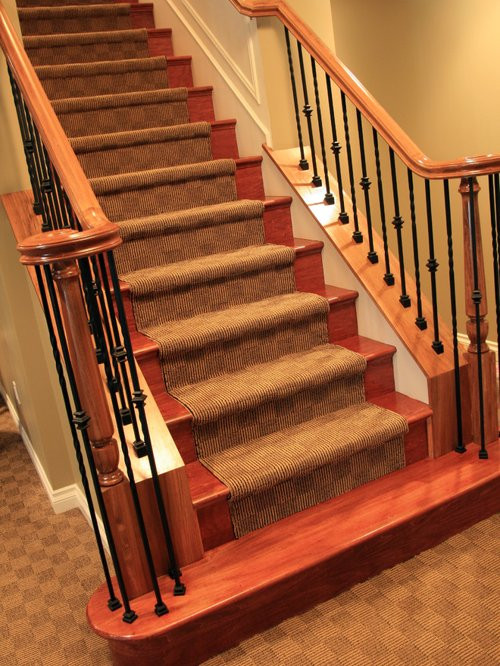Best ideas about Finished Basement Stairs . Save or Pin Carpet Basement Stair Ideas Remodel and Decor Now.