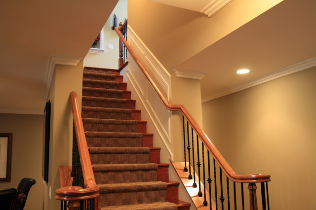 Best ideas about Finished Basement Stairs . Save or Pin Finished Basement Rochester MI Traditional Basement Now.