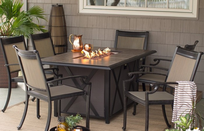 Best ideas about Fire Pit Dining Table . Save or Pin Gas Fire Pit Tables Costco Outdoor Dining Table With Lowes Now.