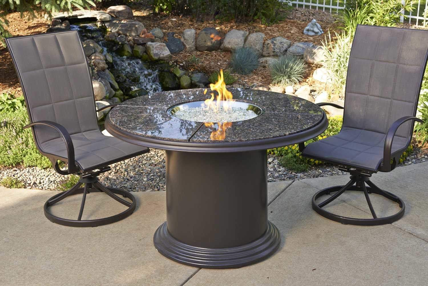 Best ideas about Fire Pit Dining Table . Save or Pin Outdoor Greatroom Grand Colonial Dining Height Gas Fire Now.