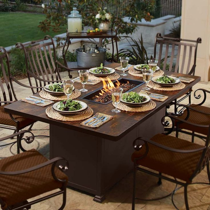 Best ideas about Fire Pit Dining Table . Save or Pin 52 best images about Fire Pit Dining Table on Pinterest Now.