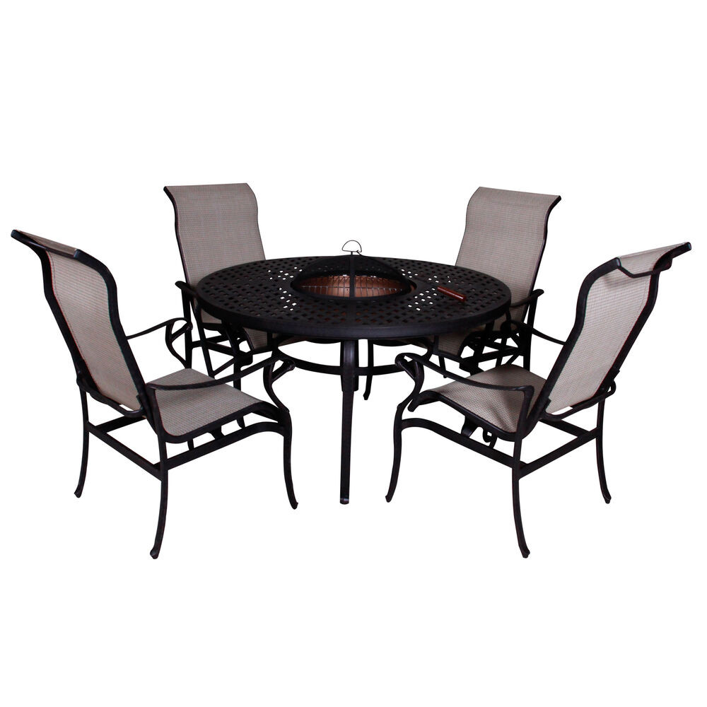 Best ideas about Fire Pit Dining Table . Save or Pin Lorraine Dining Height Fire Pit Table and Chairs 5 piece Now.
