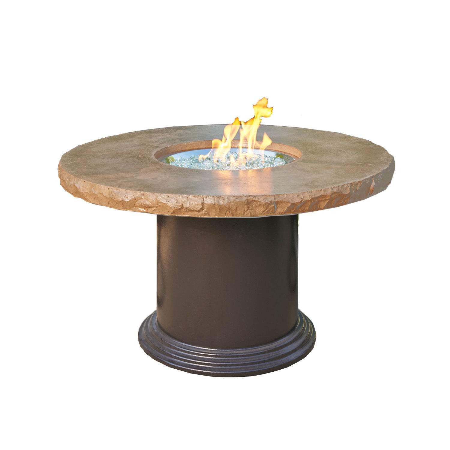 Best ideas about Fire Pit Dining Table . Save or Pin Outdoor Greatroom Colonial Dining Height Fire Pit Table Now.
