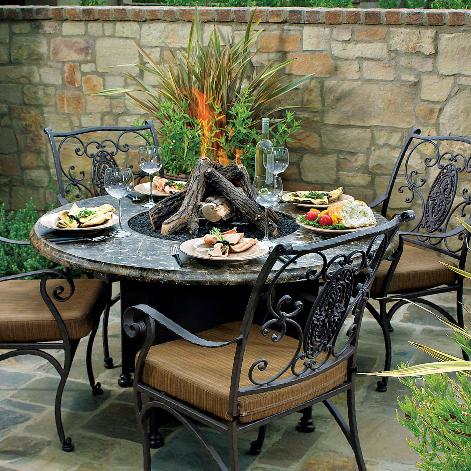 Best ideas about Fire Pit Dining Table . Save or Pin Patio with Fire Pit is a Nice Place to Spend Your Time Now.