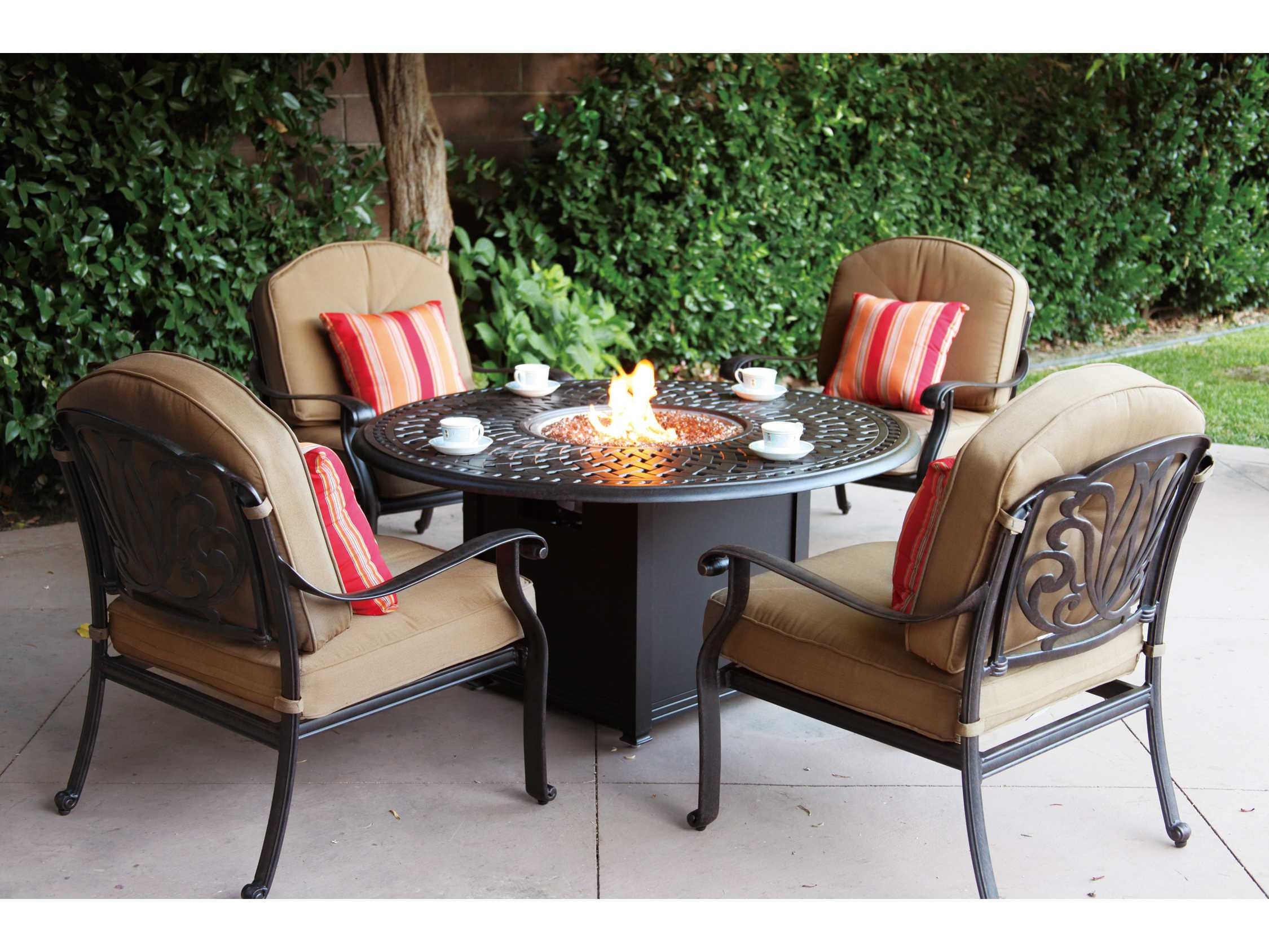 Best ideas about Fire Pit Dining Table . Save or Pin Darlee Outdoor Living Series 60 Cast Aluminum 60 Round Now.