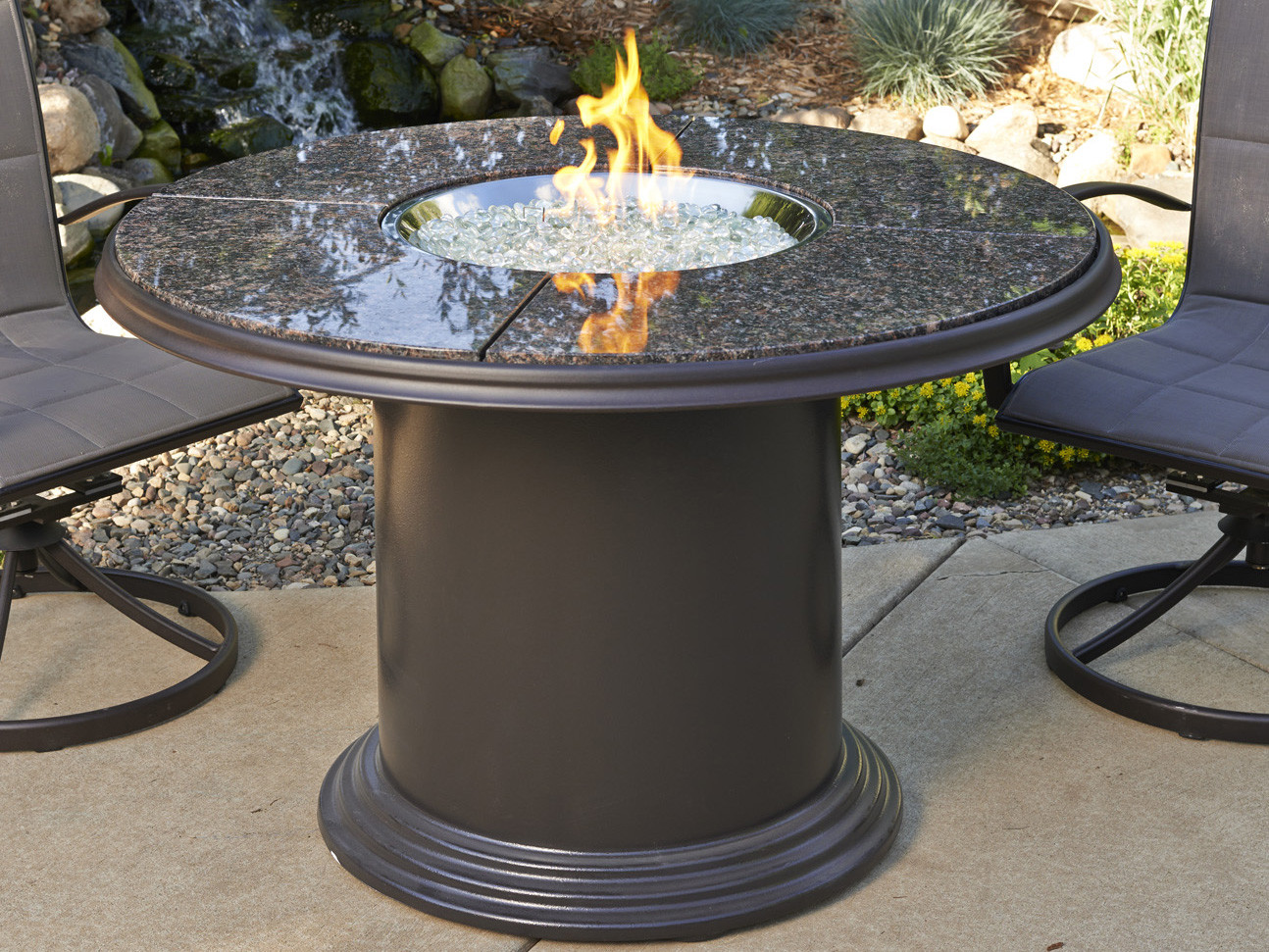 Best ideas about Fire Pit Dining Table . Save or Pin Outdoor GreatRoom Colonial Fiberglass 48 Round Crystal Now.