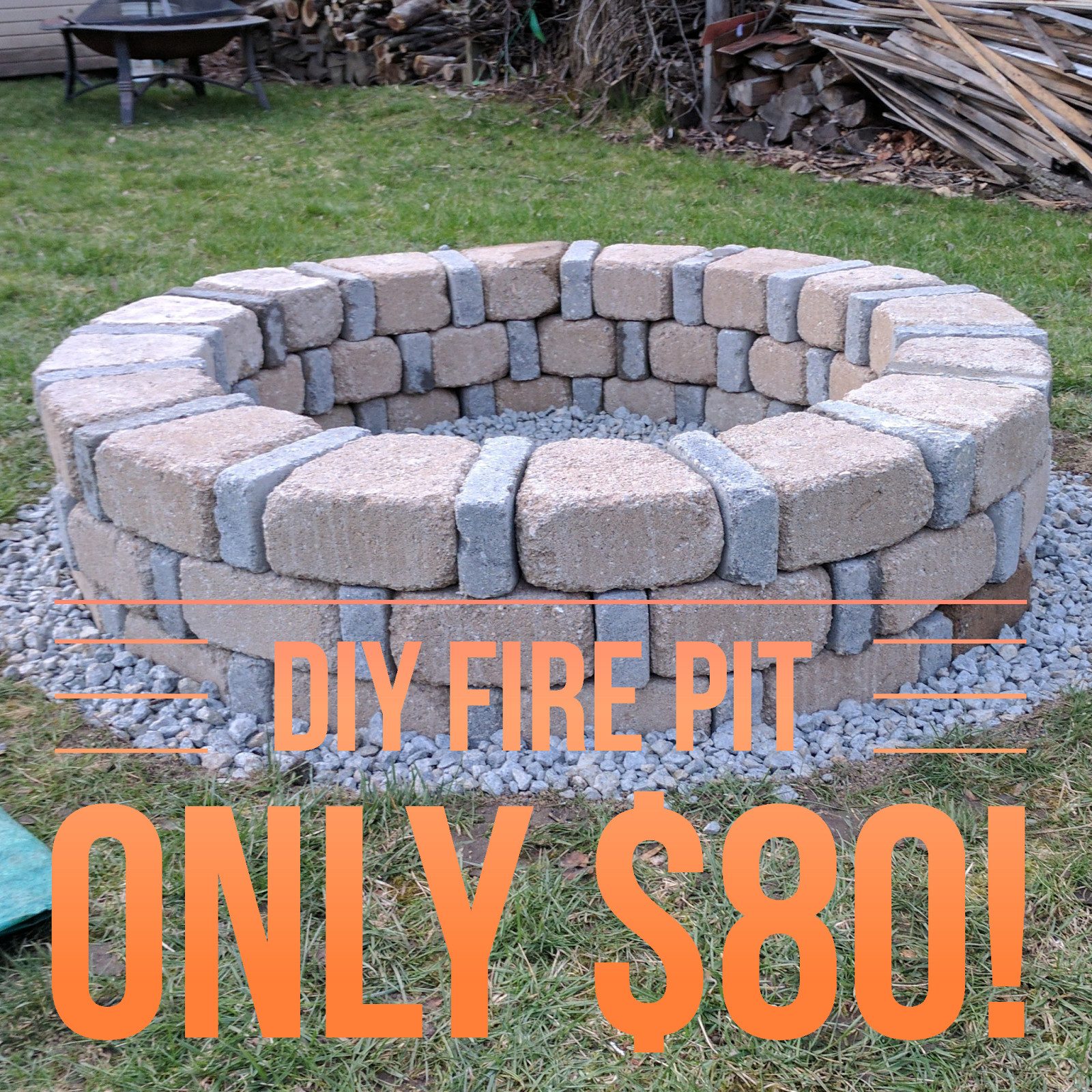 Best ideas about Fire Pits DIY . Save or Pin DIY Brick Fire Pit For ly $80 Now.