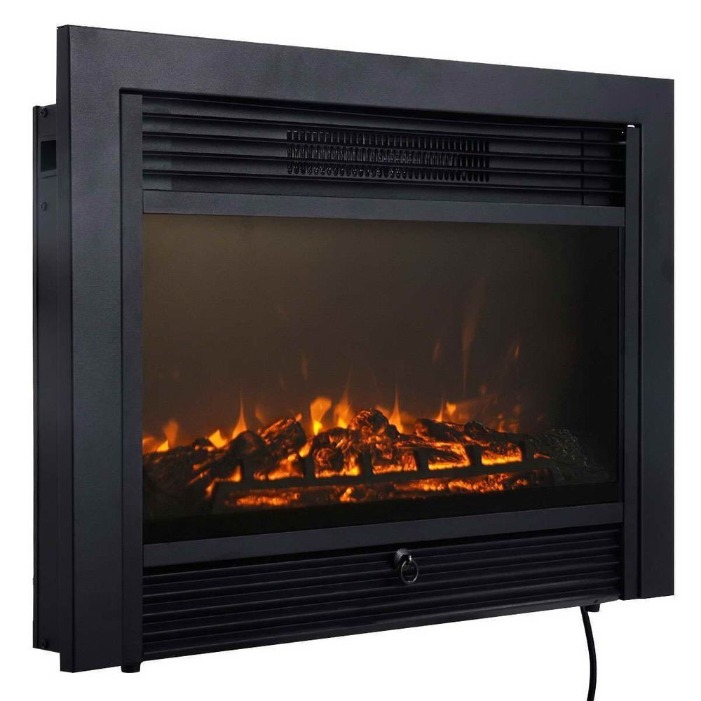 "Best ideas about Fireplace Electric Heater . Save or Pin 28 5"" Fireplace Electric Embedded Insert Heater Glass View Now."