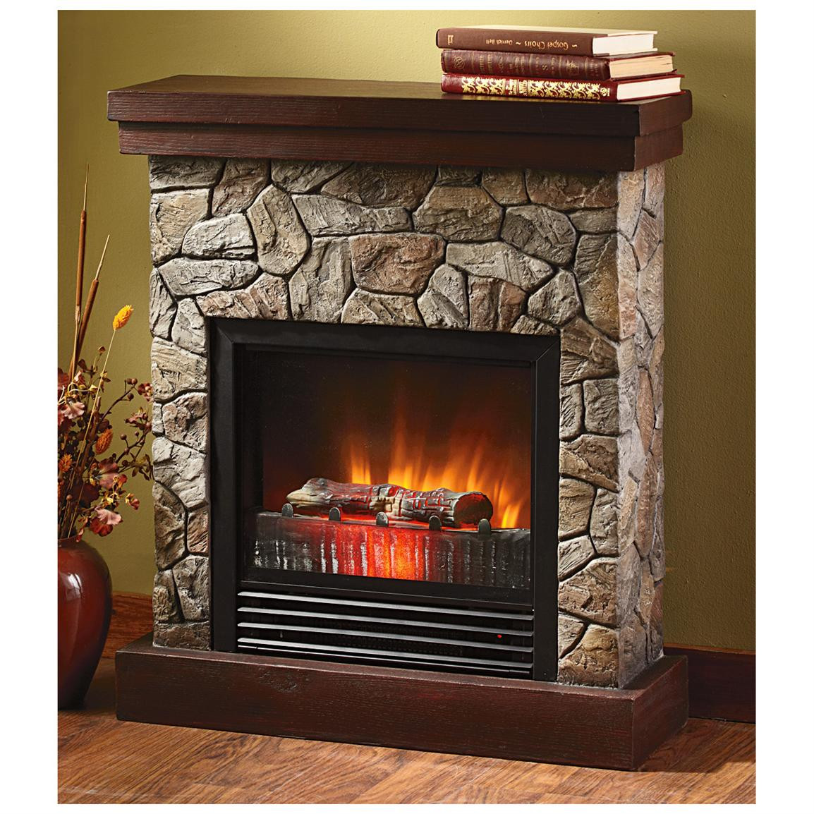 "Best ideas about Fireplace Electric Heater . Save or Pin CASTLECREEK™ Electric ""Stone"" Fireplace Heater Now."