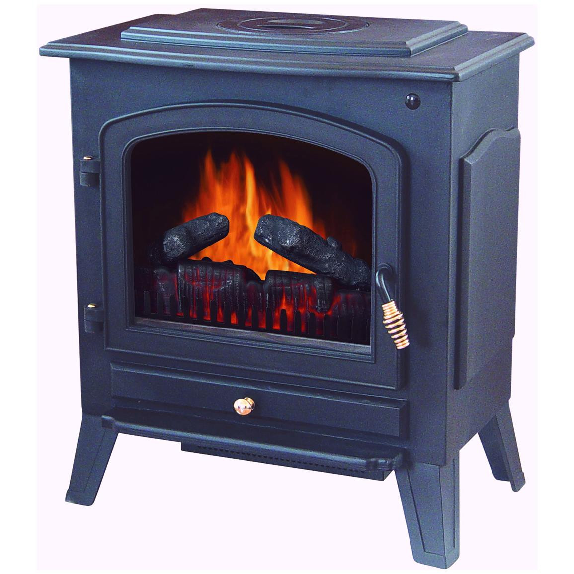 Best ideas about Fireplace Electric Heater . Save or Pin Stonegate Electric Fireplace Heater with Remote Black Now.
