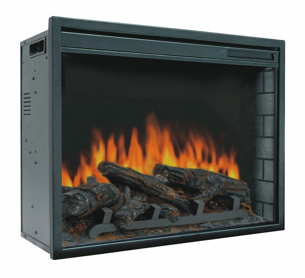 "Best ideas about Fireplace Electric Heater . Save or Pin 23"" Electric Firebox Insert with Fan Heater and Glowing Now."