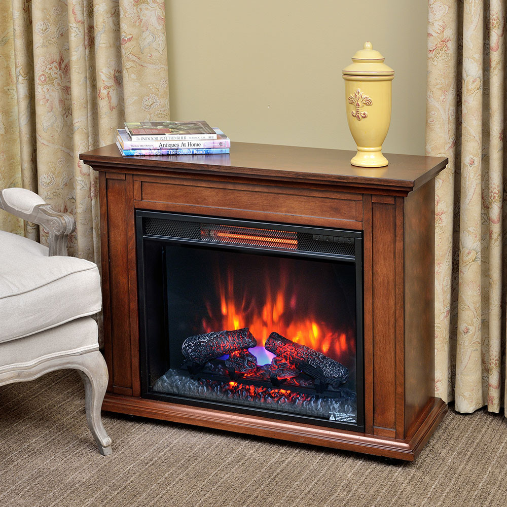 Best ideas about Fireplace Electric Heater . Save or Pin Carlisle Infrared Electric Fireplace Heater in Mahogany Now.