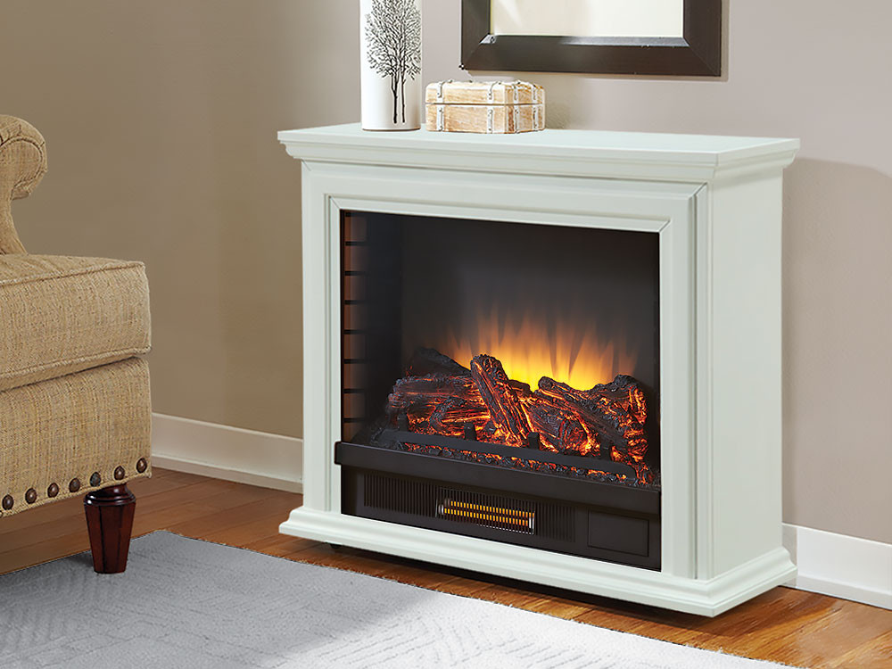 Best ideas about Fireplace Electric Heater . Save or Pin Sheridan Infrared Rolling Electric Fireplace White Now.