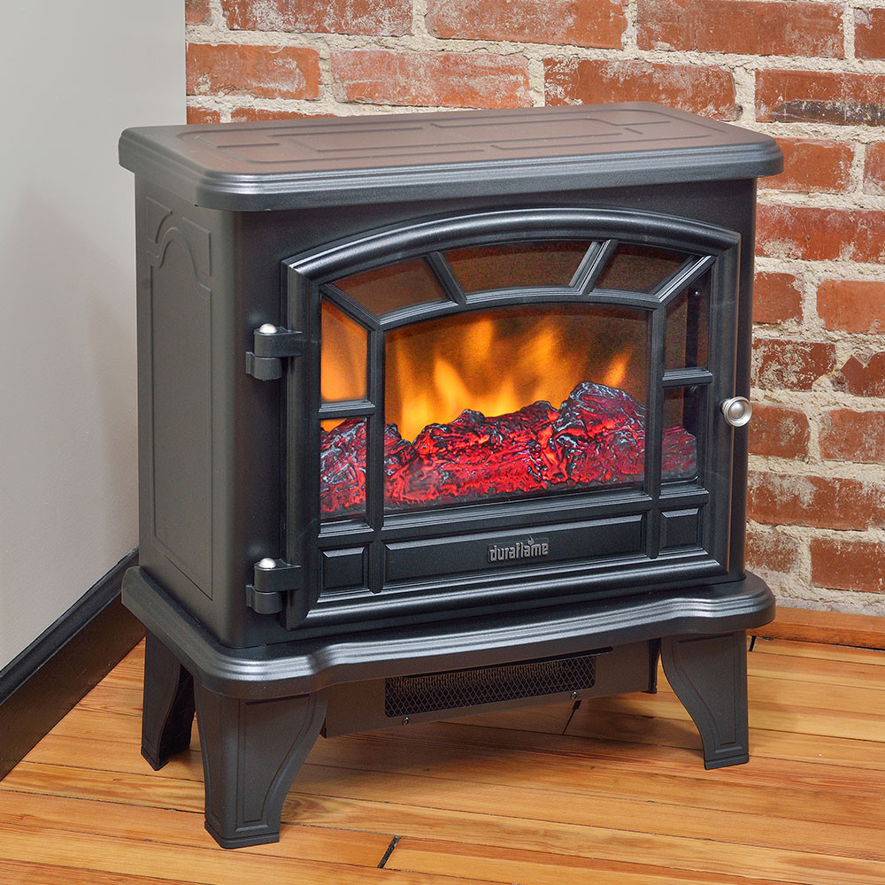 Best ideas about Fireplace Electric Heater . Save or Pin Duraflame 550 Black Electric Fireplace Stove DFS 550 21 Now.