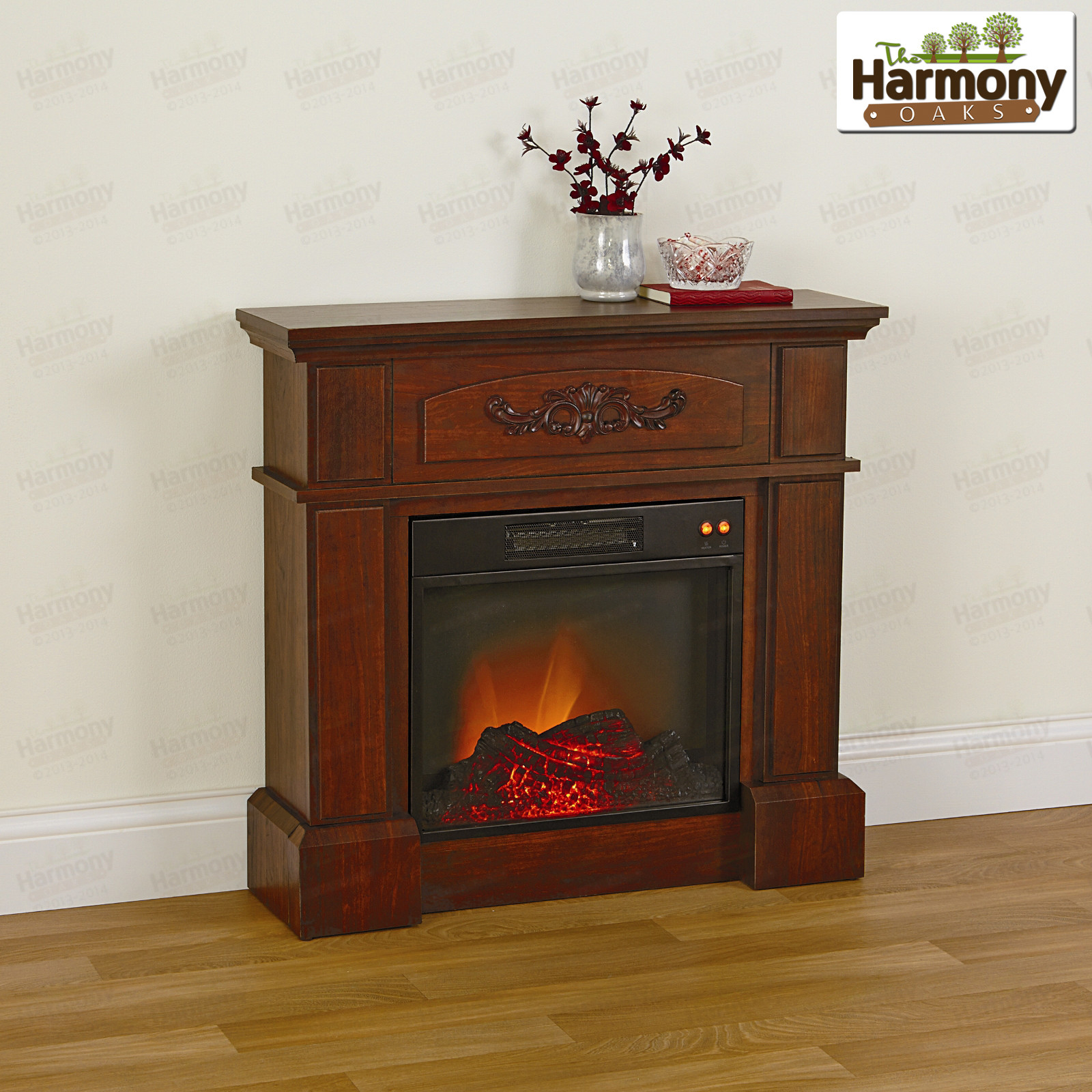 Best ideas about Fireplace Electric Heater . Save or Pin Electric Fireplace Heater Flame Mantle Den Living Room LED Now.