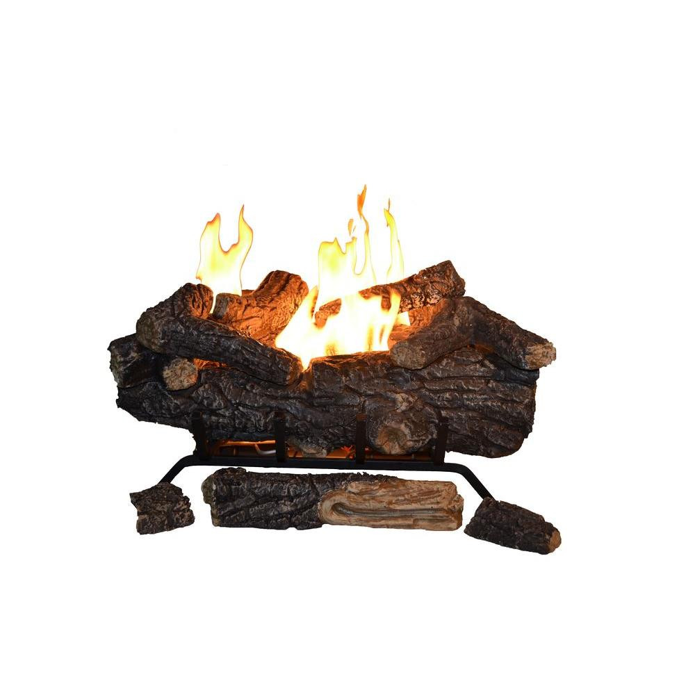 Best ideas about Fireplace Gas Logs . Save or Pin Savannah Oak 24 in Vent Free Propane Gas Fireplace Logs w Now.