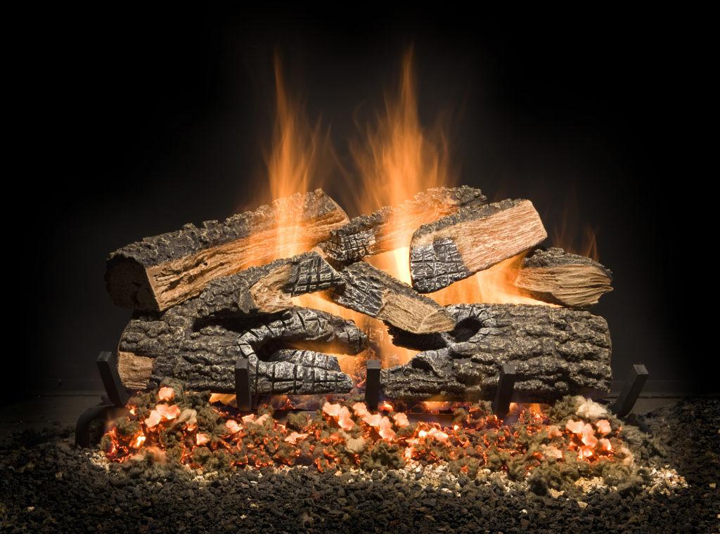 Best ideas about Fireplace Gas Logs . Save or Pin Split Bonfire Charred Golden Blount IncGolden Blount Inc Now.