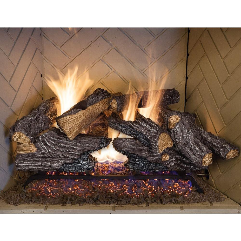 Best ideas about Fireplace Gas Logs . Save or Pin 24 In Split Oak Vented Natural Gas Log Set Dual Burner Now.