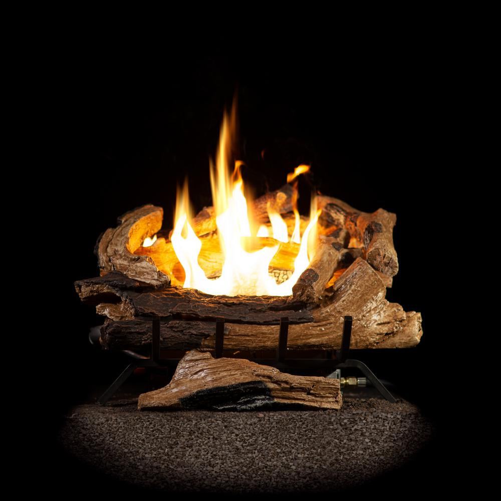 Best ideas about Fireplace Gas Logs . Save or Pin Emberglow 18 in Split Oak Vented Natural Gas Log Set Now.