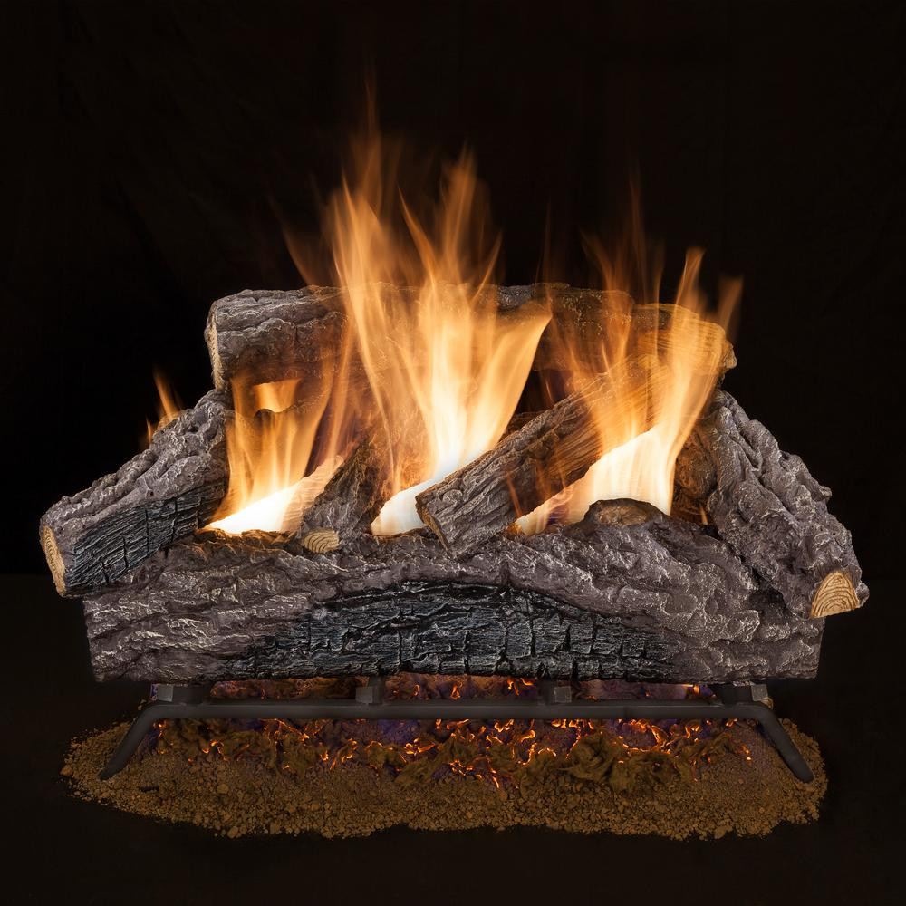 Best ideas about Fireplace Gas Logs . Save or Pin Emberglow Oakwood 24 in Vent Free Natural Gas Fireplace Now.