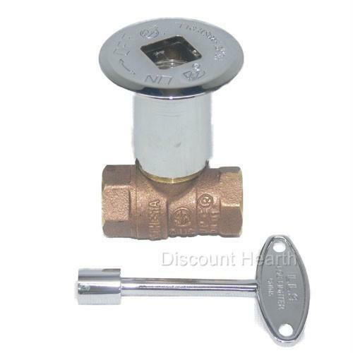 """Best ideas about Fireplace Gas Valve . Save or Pin Chrome Keyed 1 2"""" Gas Main Shut f Ball Valve for Fire Now."""