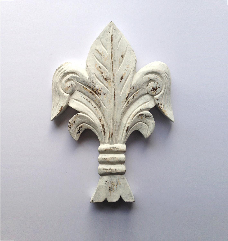 Best ideas about Fleur Di Lis Wall Art . Save or Pin Vintage Fleur De Lis Wall Décor Wood carving 1970s Now.
