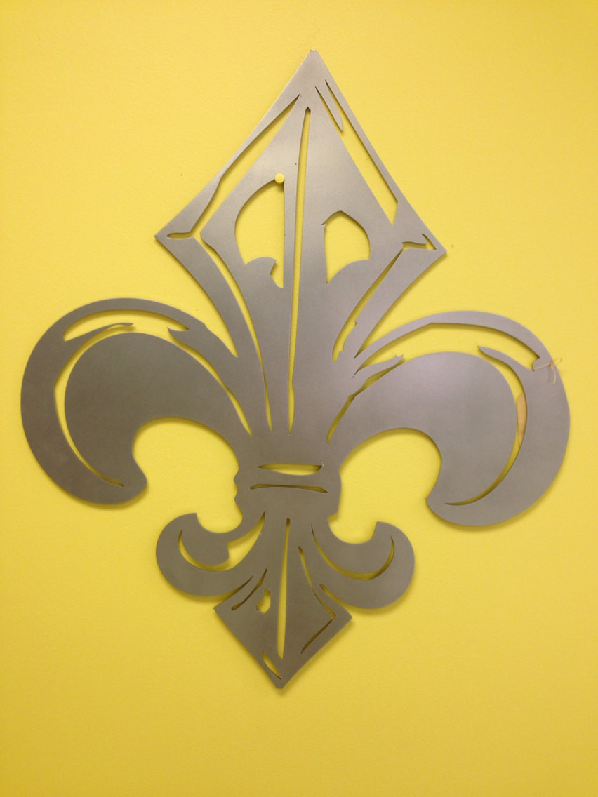 Best ideas about Fleur Di Lis Wall Art . Save or Pin Industrial French Fleur de Lis metal wall art Now.