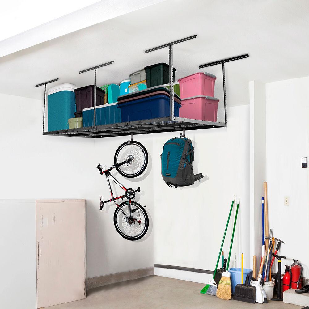 Best ideas about Fleximounts Garage Storage . Save or Pin FLEXIMOUNTS 4 x8 Overhead Garage Rack Height Adjustable Now.