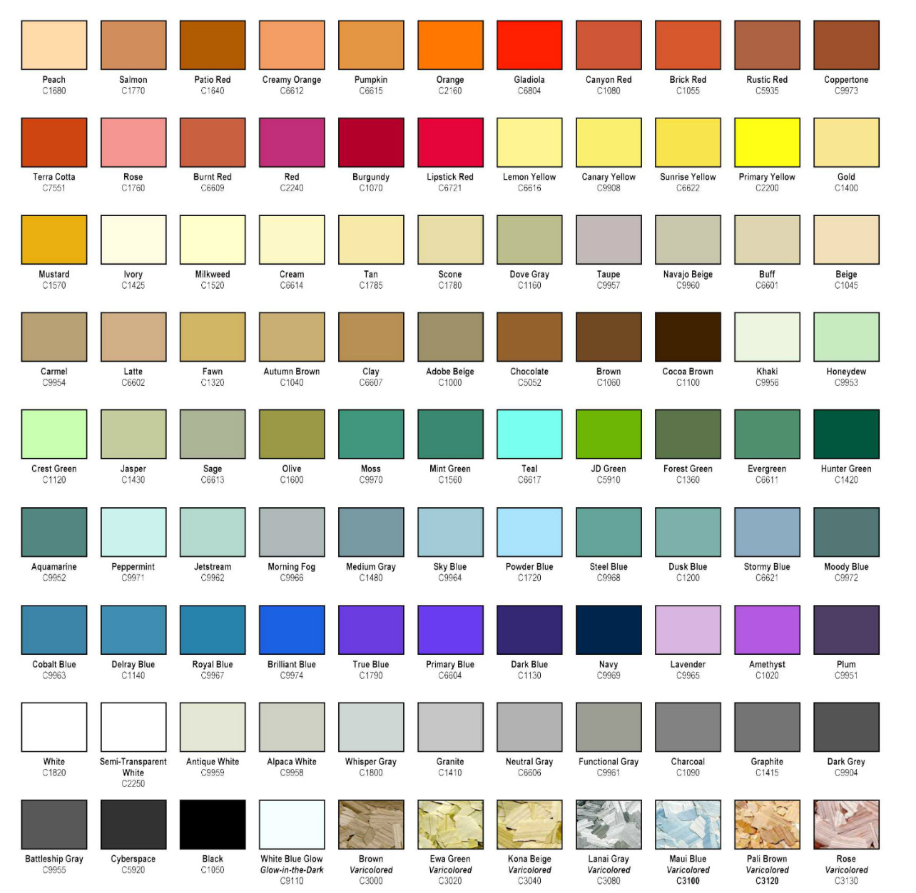Best ideas about Floor Paint Colors . Save or Pin Premium Epoxy Flooring Color Chips Now.