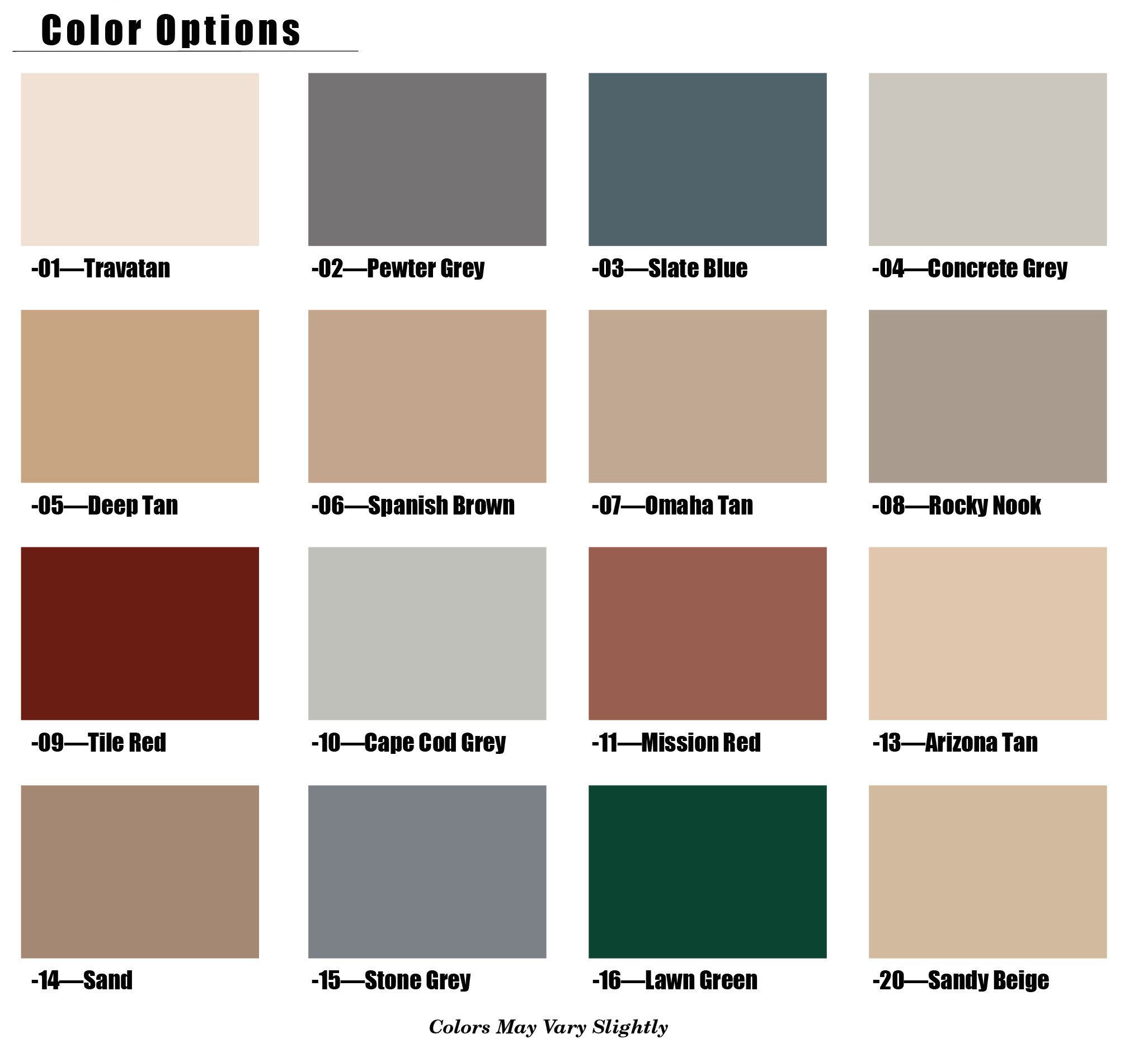 Best ideas about Floor Paint Colors . Save or Pin Color Chart Epoxy Floor Garage Now.