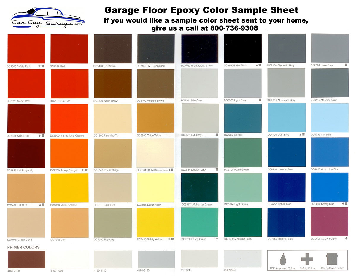Best ideas about Floor Paint Colors . Save or Pin Epoxy Floor Coating Sample Color Sheet Now.