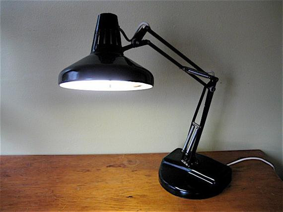 Best ideas about Fluorescent Desk Lamp . Save or Pin Beautiful Vintage Black Luxo Metal Desk Lamp Fluorescent Now.