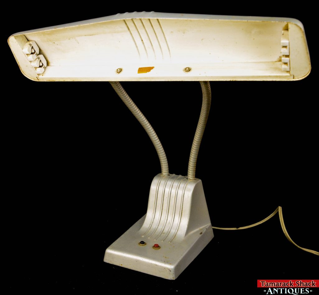 Best ideas about Fluorescent Desk Lamp . Save or Pin Vintage Dazor 1000 Industrial Double Flexible Gooseneck Now.